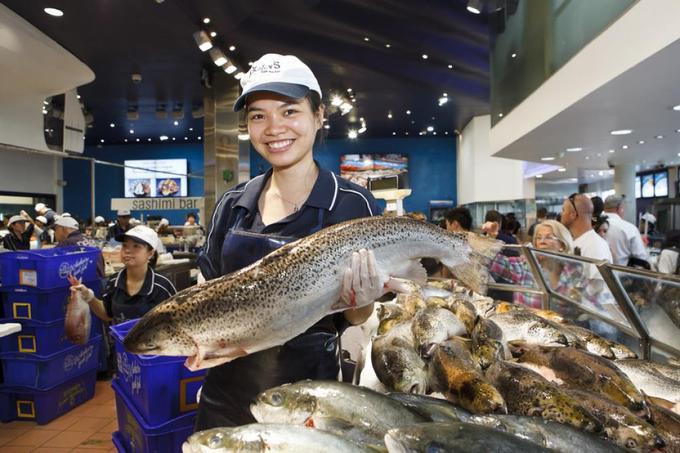 Đến Sydney, bạn khó có thể tìm thấy nơi nào bán hàng trăm loại hải sản có chất lượng mà tươi hơn ở đây. Mỗi năm, ngôi chợ tiêu thụ hơn 15 triệu kg hàng (theo lonelyplanet). Các quầy đồ sống sạch sẽ, bày bên cạnh khu đồ ăn đã được làm chín cho du khách muốn ăn tại chợ.