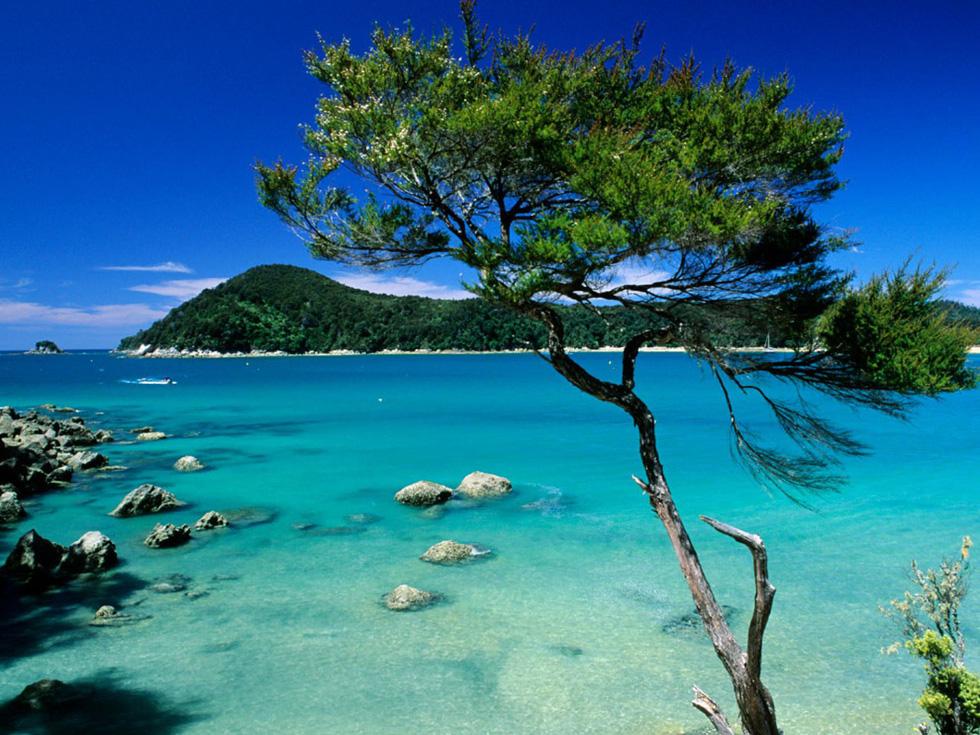 Những bãi biển hoang sơ, những núi đá kỳ thú, làn nước xanh ngọc là những nét thu hút hơn 150.000 du khách mỗi năm đến với công viên quốc gia Abel Tasman. Đây là công viên quốc gia nhỏ nhất của New Zealand, với diện tích 22.530 ha, bao gồm Đường mòn Bờ biển Abel Tasman nổi tiếng - Ảnh: Matthieu Colin