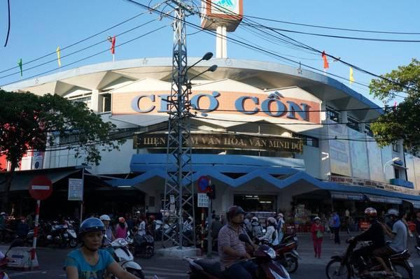 Chợ Cồn là khu mua bán lớn nhất TP. Đà Nẵng và khu vực miền Trung. Ảnh: dananghoian.com