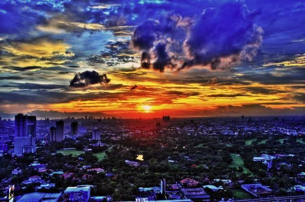 Bình minh tuyệt đẹp ở Manila. Ảnh:expatch.org